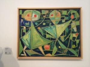 "CoBrA movement artist Egill Jacobsen's ""Grasshopper"" (1941)."
